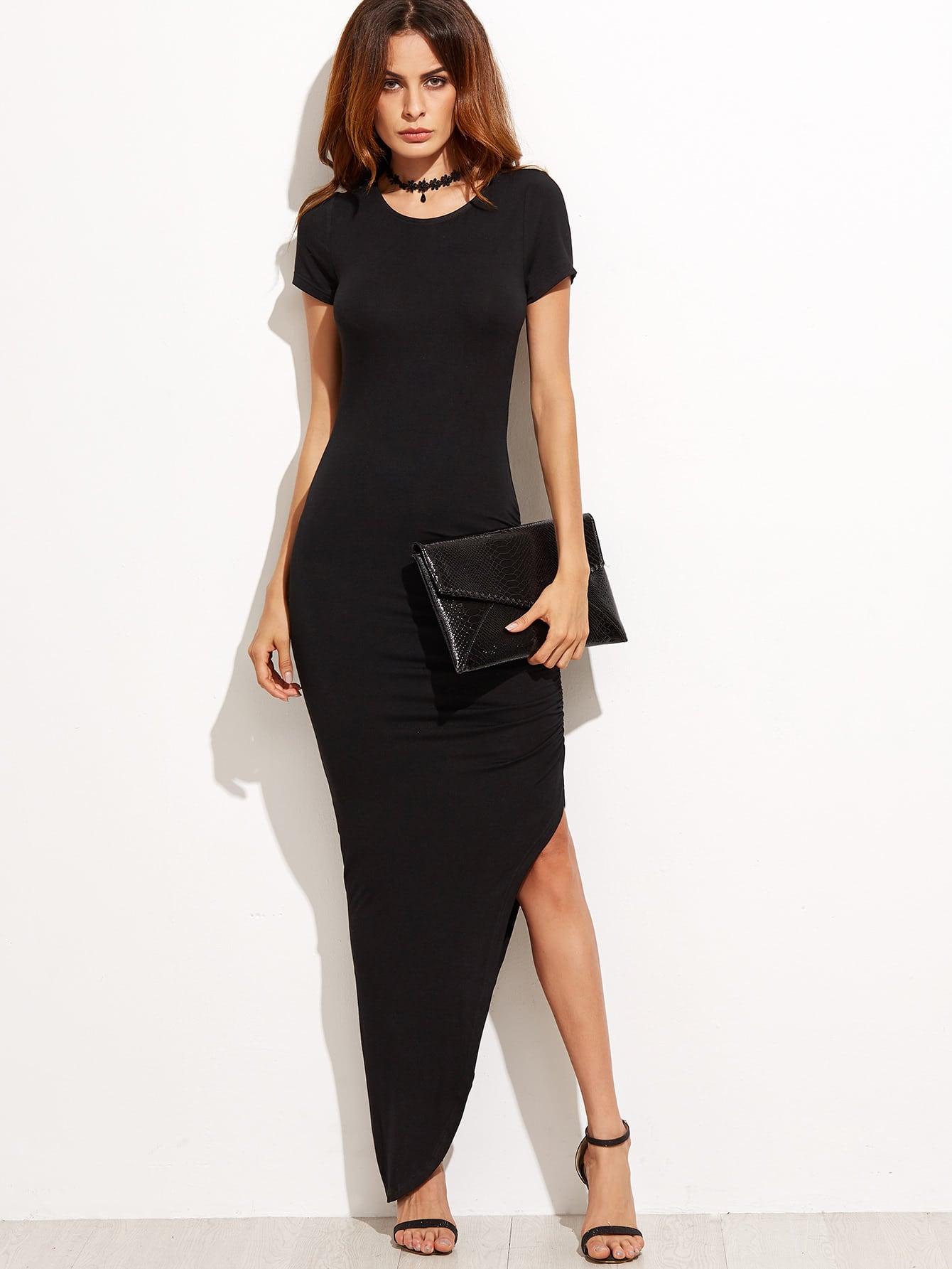 Фото Asymmetrical Floor Length Tee Dress. Купить с доставкой