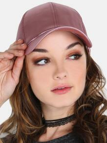 Satin Baseball Hat MAUVE