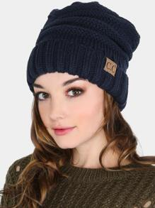 Thick Knit Beanie NAVY
