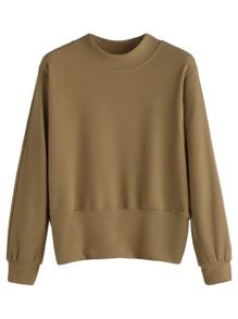 Khaki Long Sleeve Sweatshirt