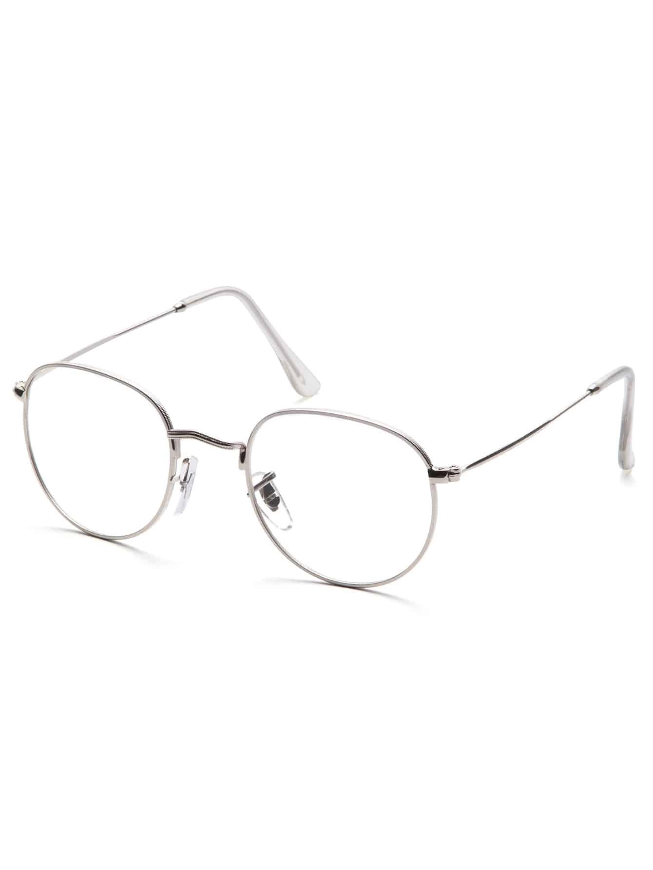 Silver Frame Clear Lens Glasses видеорегистратор erisson vr gf104