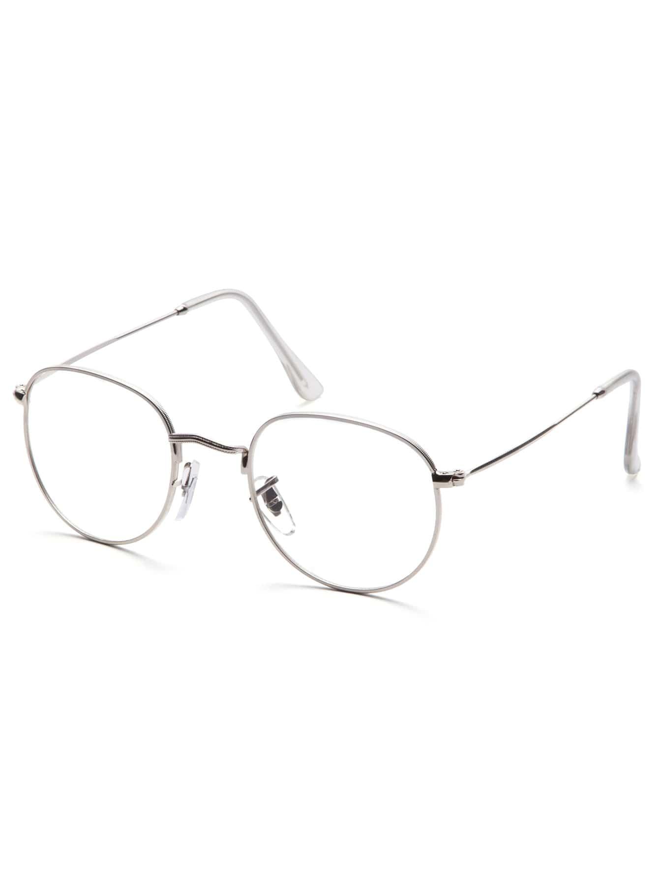 Silver Frame Clear Lens Glasses