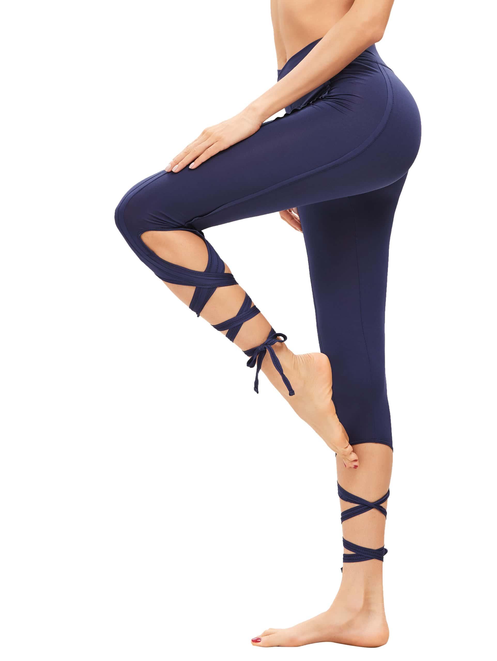 Фото Nary Hollow Tie Skinny Leggings. Купить с доставкой