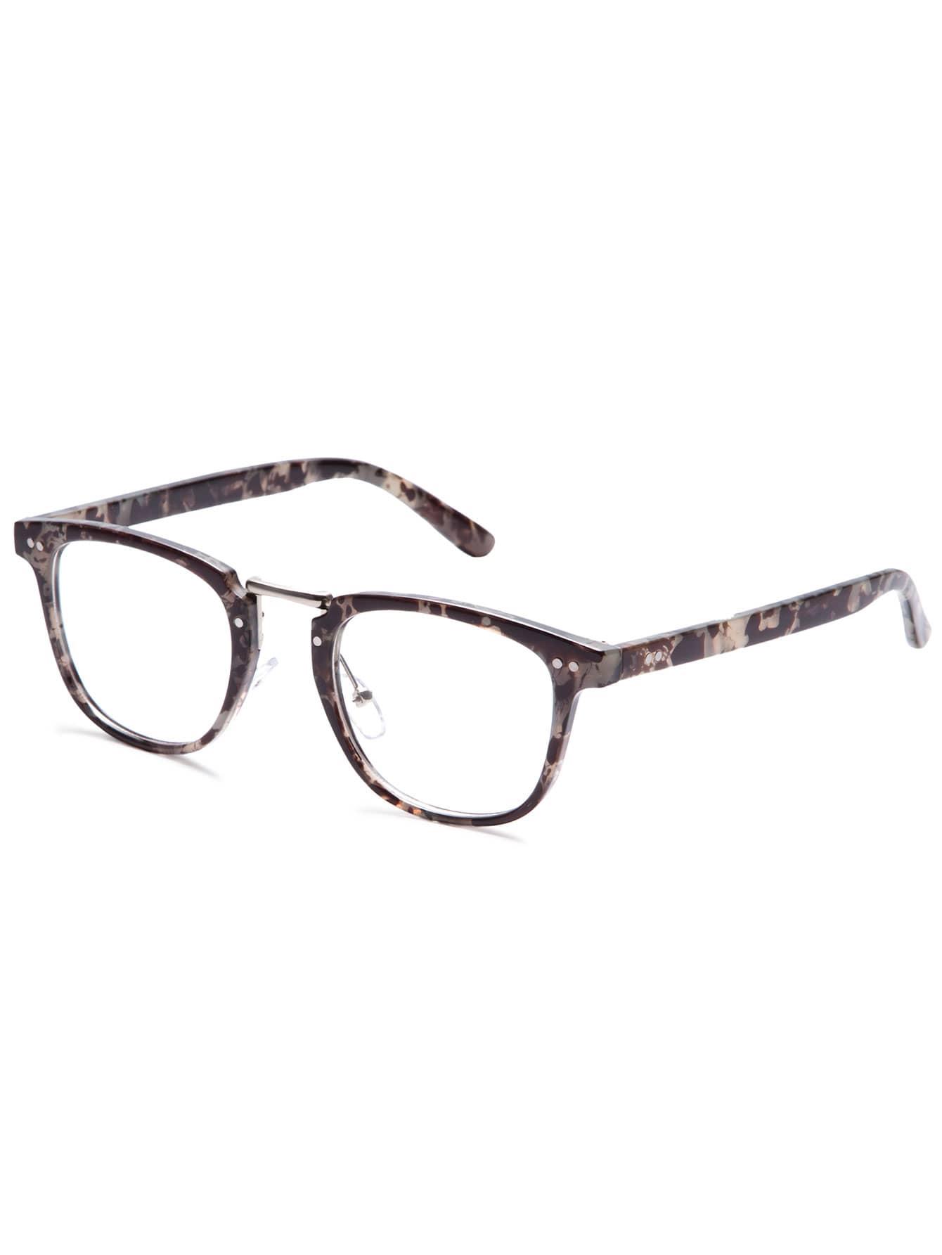 Glasses Gray Frame : Grey Tortoise Frame Clear Lens Glasses -SheIn(Sheinside)