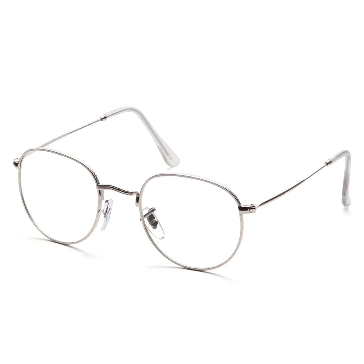 SHEIN / Rahmen klare Linse Gläser-silber