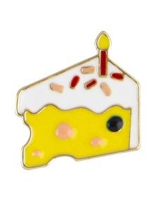 Broche forme de gâteau en laque mignonne à la mode