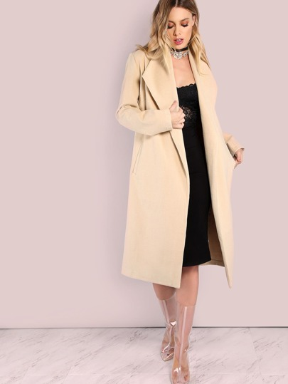 Tailored Longline Coat TAUPE