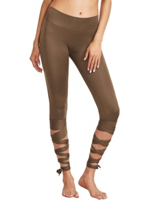 Café large Baudrier Tie Up Leggings