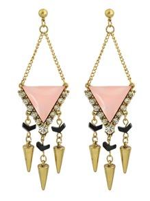 Latest Rhinestone Long Dangle Chandelier Earrings