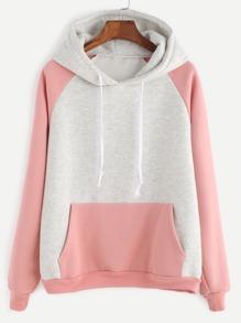 Color Block Hooded Sweatshirt