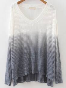 Ombre High Low Gradient Knit sweater