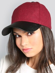 Duo Tone Suede Hat BURGUNDY
