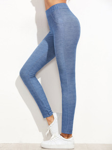 Leggings Stile Denim - Blu