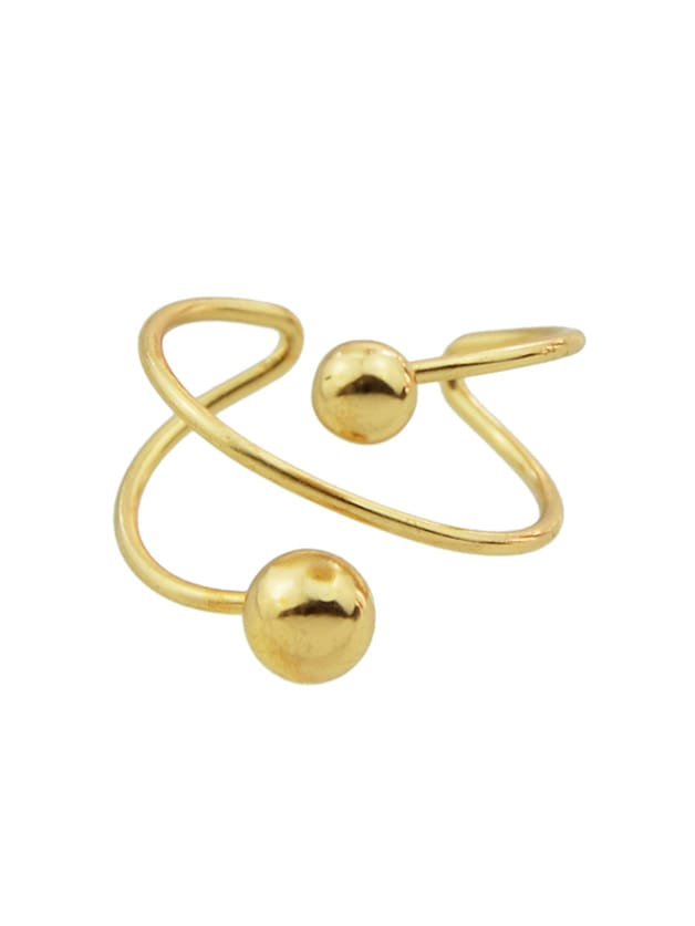 Gold Fancy Style Metal Cuff Band RingGold Fancy Style Metal Cuff Band Ring<br><br>color: Gold<br>size: None