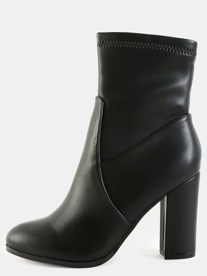 High Shine High Shaft Boots BLACK