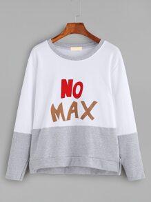 Color Block Letter Print Sweatshirt