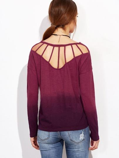 T-Shirt farbverlauf Eingesperrt zurück-purpur