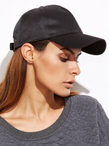 Black Satin Casual Baseball Cap