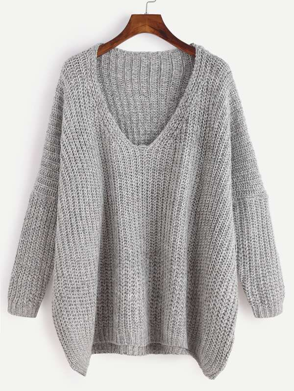 http://de.shein.com/Grey-Marled-Knit-Drop-Shoulder-Sweater-p-321932-cat-1734.html?utm_source=lifefeminin&utm_medium=blogger&url_from=lifefeminin