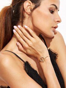 Bracelet minimaliste géométrique - doré