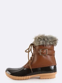 Winter Fur Lined Duck Boots TAN