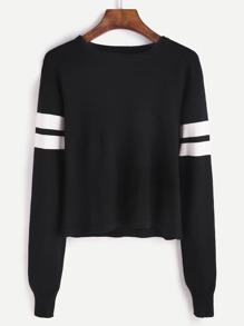 Jersey con detalle de rayas - negro