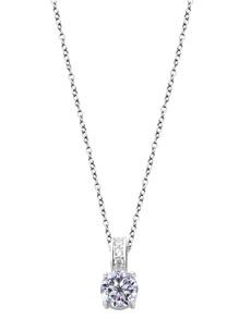 Посеребренное ожерелье с хрусталем