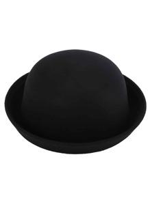 Bombín de fieltro estilo de vintage - negro