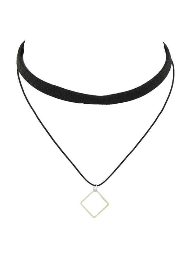 Hot Sale Black Peach Skin Chain Choker Necklace
