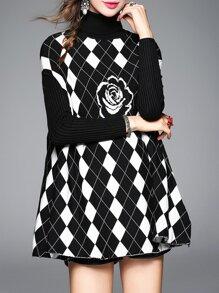Vestido de punto sin mangas - negro