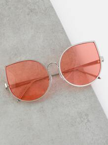 Teardrop Vintage Inspired Sunglasses CORAL