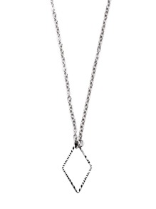 Silver Plated Geometric Hollow Out Pendant Necklace