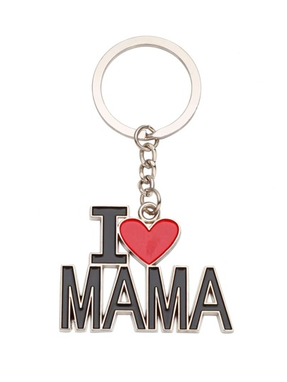 Silver Plated Personalized Slogan Keychain