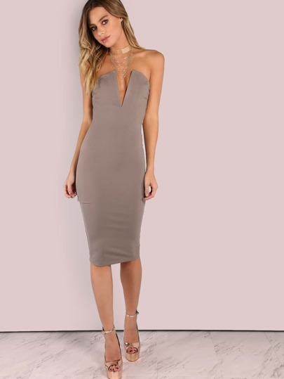 Kleid eng midi