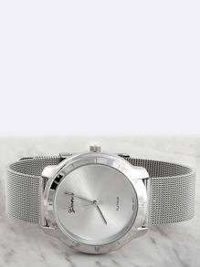 Hi-Shine Round Wristwatch SILVER