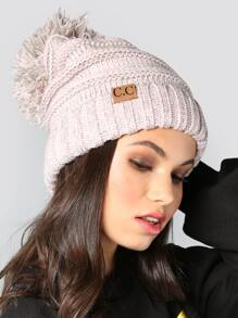 Multi Blend Pom Pom Knit Beanie ROSE MULTI