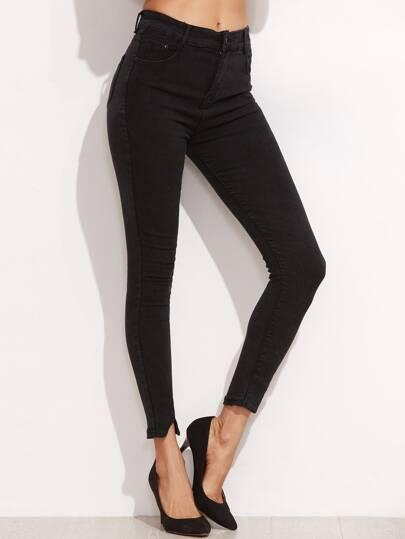 Split Hem Ankle Jeans