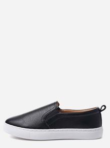 Zapatillas de deporte de PU - negro
