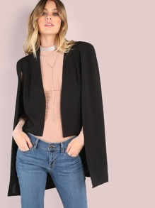 Vest Cape Blazer BLACK