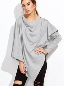 Asymmetrical Drape T-shirt