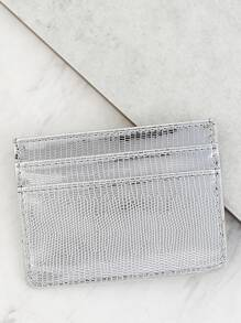 Metallic Card Holder SILVER