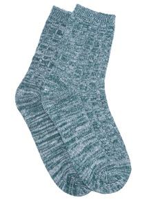 Chaussettes bigarrés - vert foncé