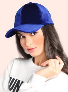 Velvet Baseball Cap BLUE