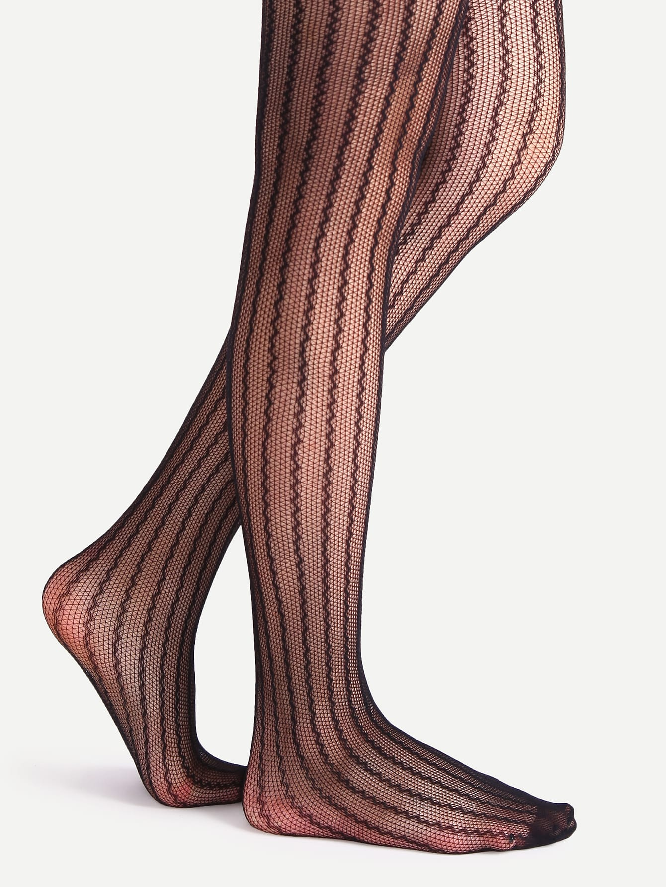 Black Hollow Striped Sexy Stretch Pantyhose StockingsBlack Hollow Striped Sexy Stretch Pantyhose Stockings<br><br>color: Black<br>size: one-size