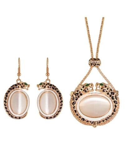 Collection de bijou du mariage femelle en fausse opale