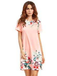 Floral Print Tee Dress