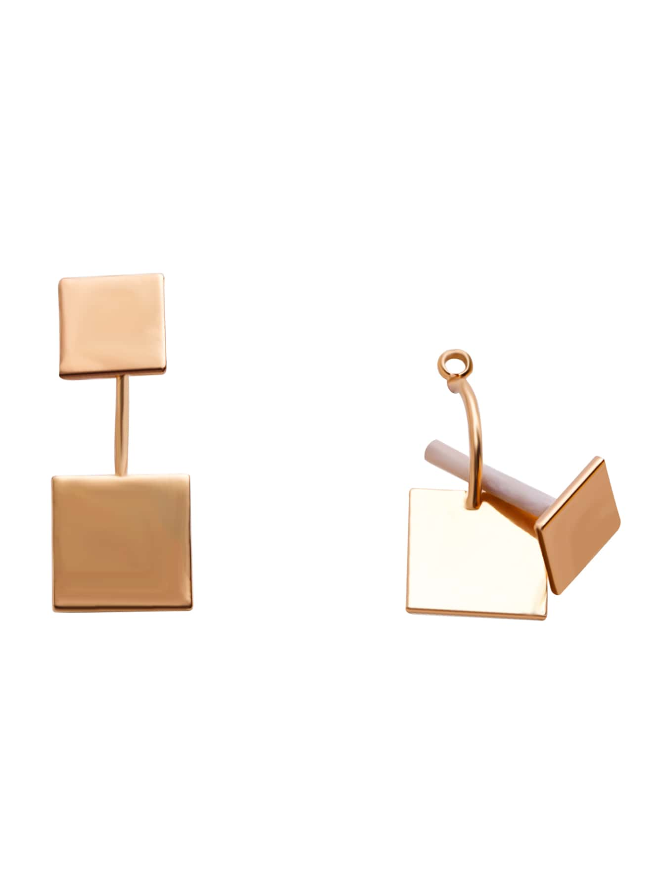 Gold Plated Square Stud EarringsGold Plated Square Stud Earrings<br><br>color: Gold<br>size: None