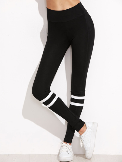 Striped High Waist Leggings