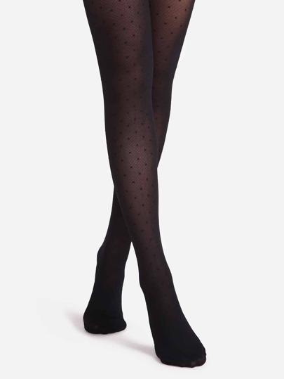 Black Polka Dot Sheer Pantyhose Stockings