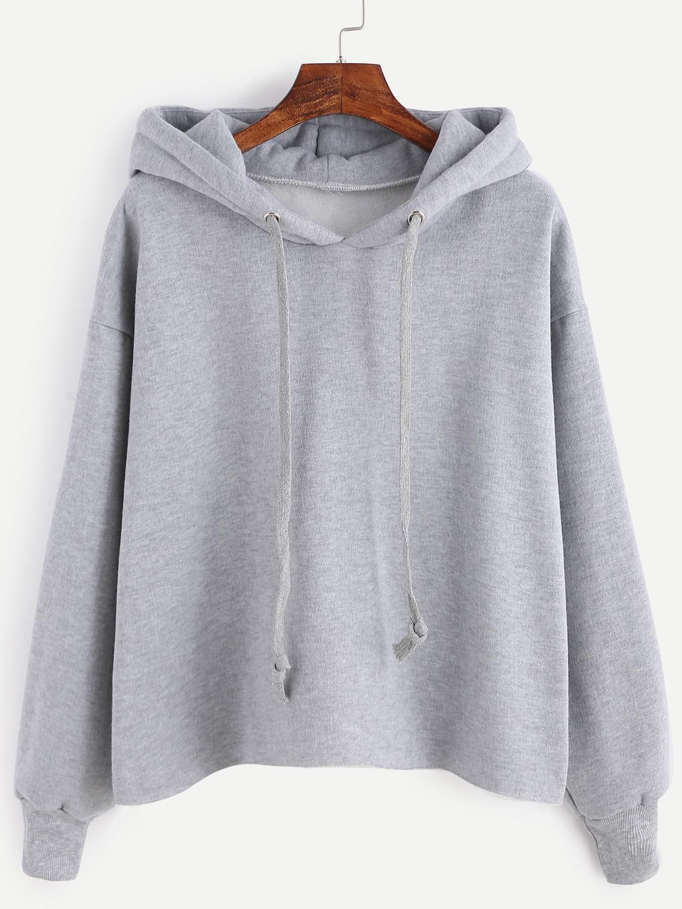 Drawstring Hooded Sweatshirt sweatshirt161021105
